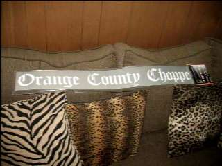 Orange County Choppers Windshield Decal Sticker WOW