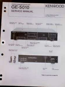 Kenwood GE 5010 Graphic Equalizer Service/Parts Manual