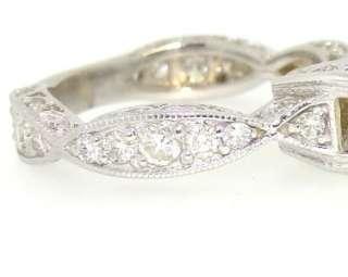 56 Ct Vintage Genuine Round Cut Diamond Engagement Ring 14k White