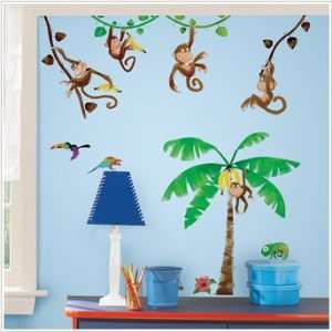 82 Monkey Business Wall Decals Palm Trees Jungle Theme