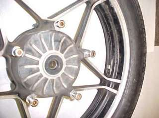82 HONDA VF750 C MAGNA FRONT WHEEL RIM AND TIRE