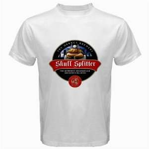 Orkney Skullsplitter Beer Logo New White T Shirt Size  M