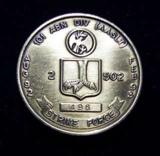 502nd Infantry Multinational Force & Observers Challenge Coin