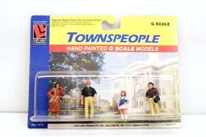 Life Like Trains Hand Painted G Scale Model Towns People Figures NIP