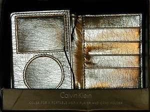 KLEIN Gold Metallic Ipod Media Cover & Credit Card Case Wallet