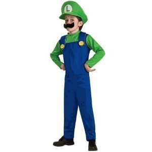 Super Mario Luigi   Child Costume   Boy Large 10 12 Toys & Games