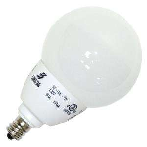 G16 7W/50K E12 Globe Screw Base Compact Fluorescent Light Bulb Home