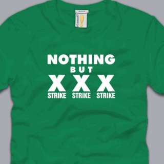 NOTHING BUT STRIKES T SHIRT funny bowling tee pba sports cool S M L XL