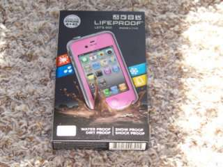 iPhone 4 4S Case Pink New In Box Apple Cover Life Proof Generation 2