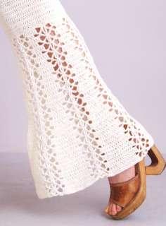 CUTOUT Sheer Lace High Waist BELL BOTTOM Dress Supermodel PANTS