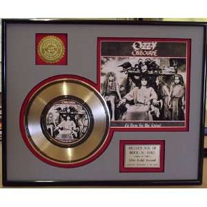 Ozzy Osbourne Gold Record Limited Edition Collectible