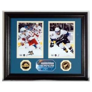 Alexander Ovechkin 2007 All Star Photo Mint w/ Two 24KT Gold Coins