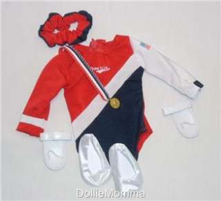 New American Girl Doll Gymnastics Leotard Outfit Accessories FITS