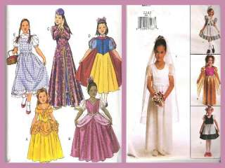Butterick Kids Girls Storybook Fairy Tale Costume Sewing Pattern