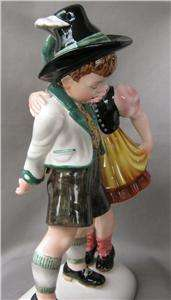 Royal Belvedere Dakon Porcelain GIRL KISSING BOY Vienna Austria