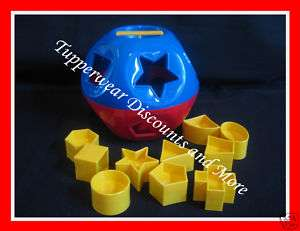 Shape O Ball Kids Toddlers Baby Development Toy RED & Blue GIFT