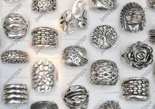 Wholesale lots 25 India style tribal Tibet silver Rings