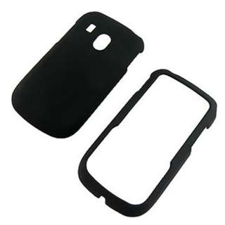 LG 500G Net10 TracFone Black Rubberized Hard Case Cover +Screen