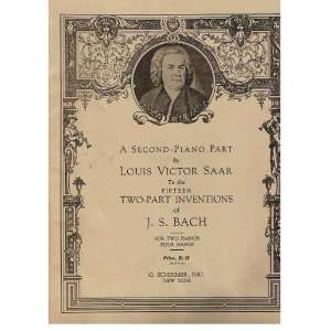of J.S. Bach   For Two Pianos, Four Hands Louis Victor Saar Books