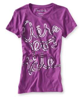 aeropostale womens aero shimmer stacked graphic t shirt