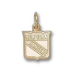 New York Rangers 10K Gold Shield Logo 3/8 Pendant