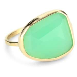 Joy Manning Neptune 14k Gold Chrysoprase Ring, Size 7: Jewelry
