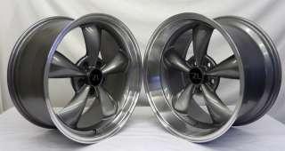 Anthracite Bullitt 18x9 &18x10 Mustang Wheels Deep Dish Bullet Rims 18