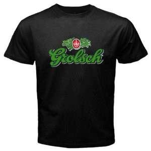 Grolsch Beer Logo New Black T shirt Size XL Free
