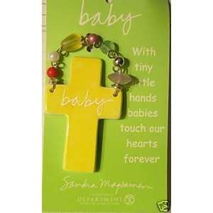 Department 56 Sandra Magsamen BABY Cross Wall Hanging