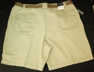 Mens St Johns Bay Hiking Shorts 44 Khaki Tan Cargo Belt NWT