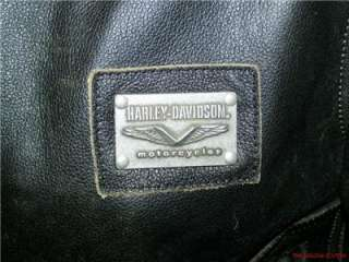Harley Davidson Leather Jacket Distressed Brown Medium