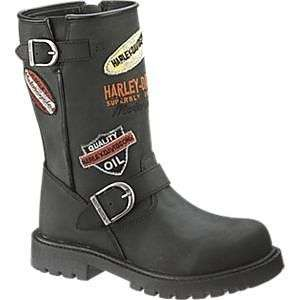 Kids Harley Davidson Boots Patches 9 3