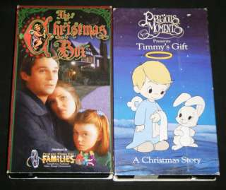 PRECIOUS MOMENTS CHRISTMAS STORY & The Christmas Box VHS Movies