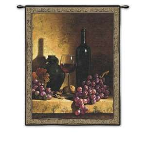 Wine Bottle with Grapes by Loran Speck, 42x53