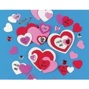 Foam Valentine Pin Craft Kits Case Pack 108