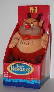 DISNEYS HERCULES 5 PHIL PLUSH STUFFED DOLL FIGURE MIB