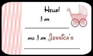 Baby Shower Personalized Large Name Tags Party Favors