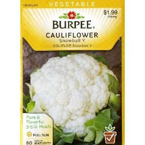 Burpee 65305 Cauliflower Snowball Y Seed Packet Patio