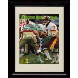 Framed Joe Theismann Sports Illustrated Autograph Print