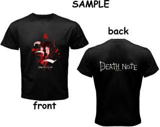 DEATH NOTE BLACK T SHIRT #1 (9 DESIGN)