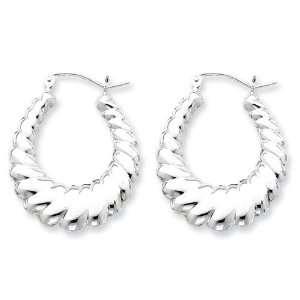 Sterling Silver Shrimp Hoop Earrings Vishal Jewelry