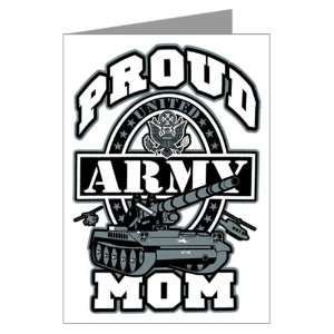 Greeting Card Proud Army Mom Tank