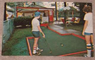 Conneaut Lake Park PA Kids Play Miniature Golf 1950s PC