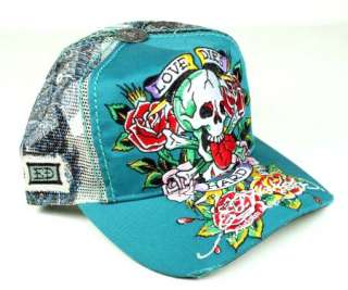 ED Hardy trucker Cap Love DIES Hard HOLLYWOOD panther