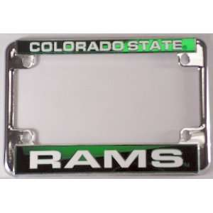 State Rams Chrome Motorcycle RV License Plate Frame