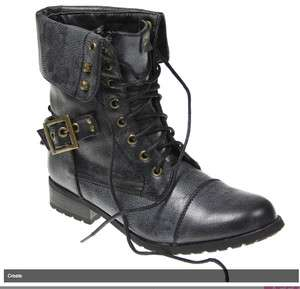 NEW WOMENS MILITARY ARMY ANKLE BOOTS LADIES GIRLS COMBAT SHOES SIZE 3