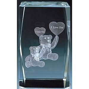 3d Laser Cut Teddy Bear Crystal: Everything Else