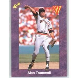 1991 Classic Game (Purple) Trivia Game Card # 97 Alan Trammell