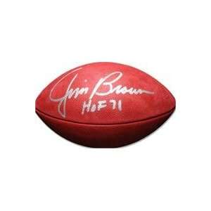 Jim Brown autographed Football (Cleveland Browns