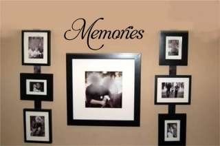 Memories Stickers Vinyl Wall Decal Word Letters Talk